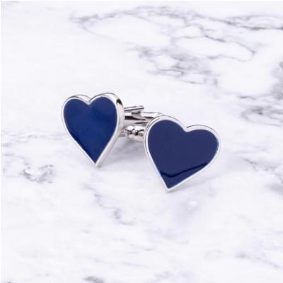 Manžetové gombíky Modré srdce