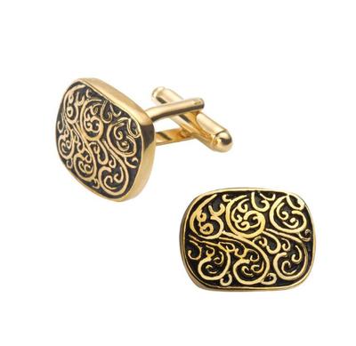 Manžetové gombíky rímsky vzor zlatý - 1