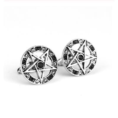 Manžetové gombíky päťcípa hviezda pentagram