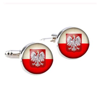 Manžetové gombíky poľská vlajka