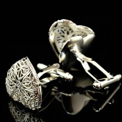 Manžetové gombíky srdce amulet