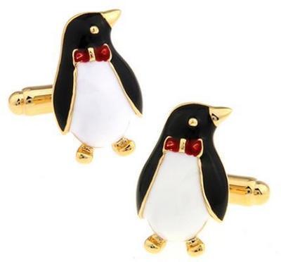 Manžetové gombíky tučniak s motýlikom