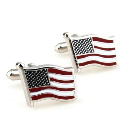 Manžetové gombíky vlajka USA
