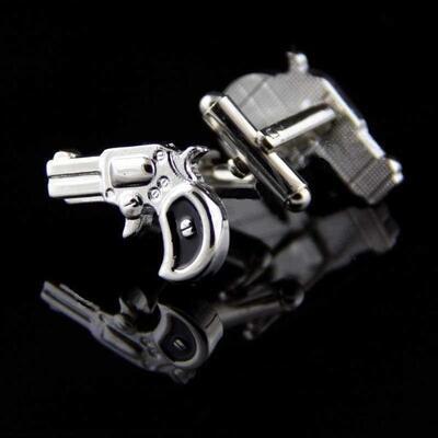 Manžetové gombíky historická pištole