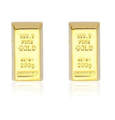 Manžetové gombíky zlatá tehla