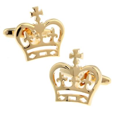 Manžetové gombíky s motívom kráľovskej koruny zlatá