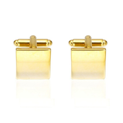 Manžetové gombíky zlaté štvorčeky