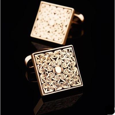 Manžetové gombíky luxusné zlatý ornament