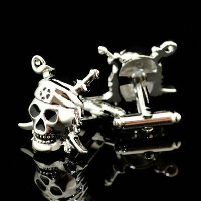Manžetové gombíky - Pirátska lebka