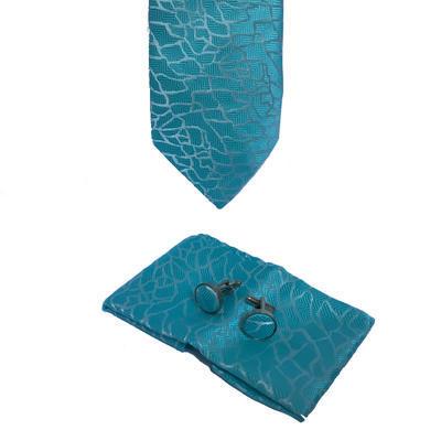 Luxusný set světle modrý vzor křivky