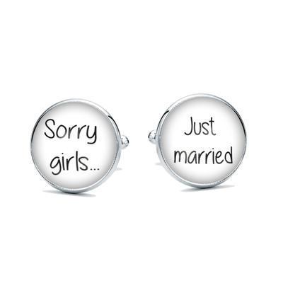 Manžetové gombíky Sorry girls - 1
