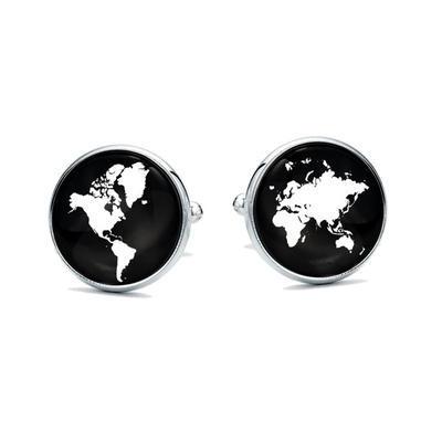 Manžetové gombíky Mapa sveta - 1