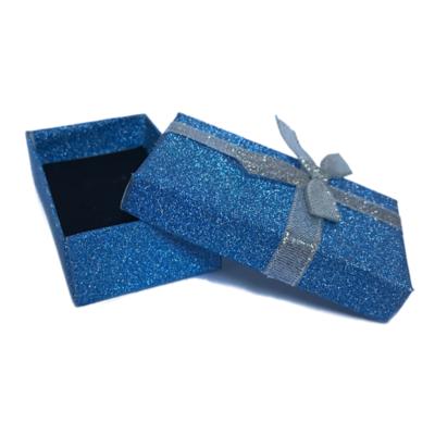 Darčeková papierová krabička modrá - 2