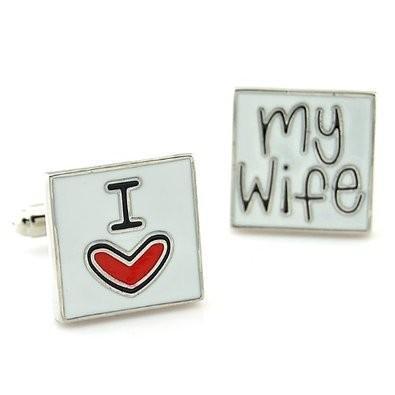 Manžetové gombíky milujem svoju ženu - 2