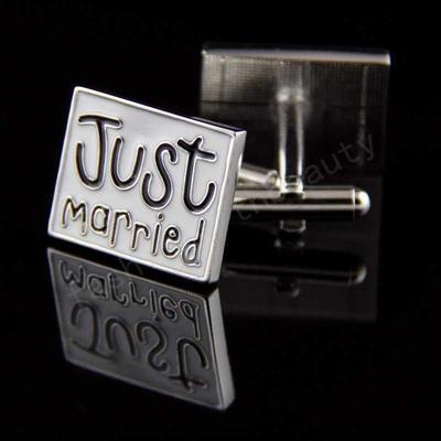 Manžetové gombíky novomanželia - 2