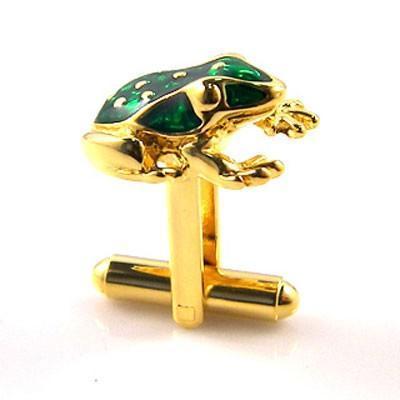 Manžetové gombíky žabka zlatá - 2