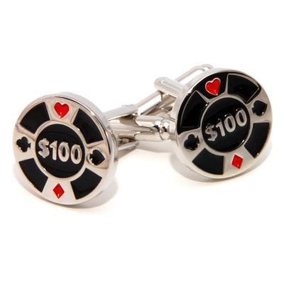 Manžetové gombíky pokerový žetón - 2