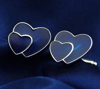 Manžetové gombíky srdce - 2