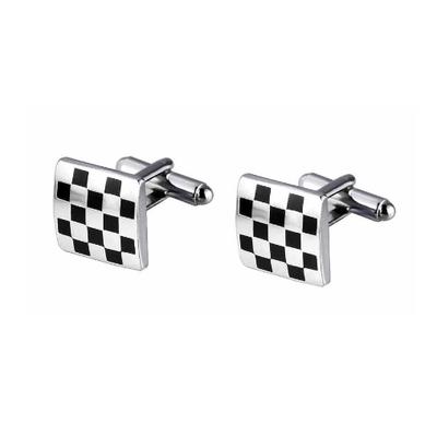 Manžetové gombíky šachovnica - 2