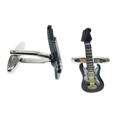Manžetové gombíky elektrická gitara čierna - 2