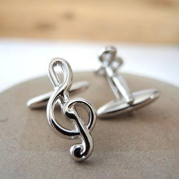 Manžetové gombíky husľový kľúč - 3