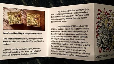 Manžetové gombíky sv. Juraj a drak - 4